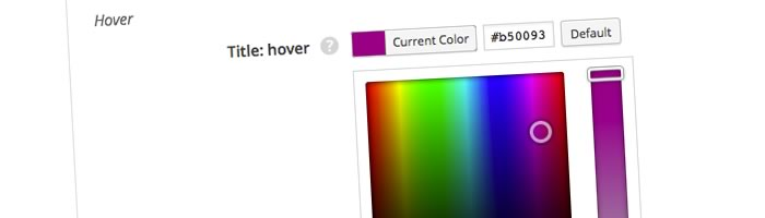 Easily set your colours from pop-up Colour Pickers